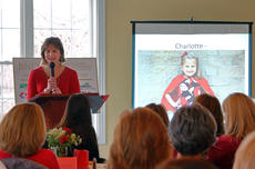 """<div class=""""source"""">KACIE GOODE/The Kentucky Standard</div><div class=""""image-desc"""">Rachel Richey talks about her daughter Charlotte's heart condition Thursday afternoon at the Maywood Country Club. Richey was the featured guest speaker for the 2018 Red Heart for Women event.</div><div class=""""buy-pic""""><a href=""""/photo_select/93095"""">Buy this photo</a></div>"""