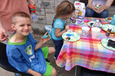 """<div class=""""source"""">KACIE GOODE/The Kentucky Standard</div><div class=""""image-desc"""">Toby Becker shows off his rock Saturday while taking part in a rock painting party hosted by Suga Babies on Flaget.</div><div class=""""buy-pic""""><a href=""""/photo_select/85396"""">Buy this photo</a></div>"""