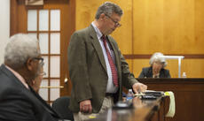 """<div class=""""source"""">FORREST BERKSHIRE/The Kentucky Standard</div><div class=""""image-desc"""">Bardstown City Councilman John Kelley, standing in the jury box of the Nelson County Justice Center, reads a motion calling for the removal of Bardstown Mayor John Royalty Thursday evening. The council voted to remove Royalty on three charges of official misconduct.</div><div class=""""buy-pic""""><a href=""""/photo_select/84875"""">Buy this photo</a></div>"""
