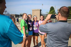 """<div class=""""source"""">KACIE GOODE/The Kentucky Standard</div><div class=""""image-desc"""">Runners pose for photos for their families Monday morning after the annual Labor Day 5K/10K event at Nelson County High School.</div><div class=""""buy-pic""""><a href=""""/photo_select/79275"""">Buy this photo</a></div>"""