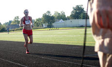 """<div class=""""source"""">KACIE GOODE/The Kentucky Standard</div><div class=""""image-desc"""">Roberta Meyer is the first female 10K participant to approach the finish line Monday at the Labor Day race event at Nelson County High School.</div><div class=""""buy-pic""""><a href=""""/photo_select/79280"""">Buy this photo</a></div>"""