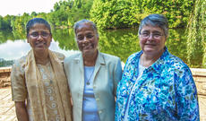 "<div class=""source"">KACIE GOODE/The Kentucky Standard</div><div class=""image-desc"">The new Central Leadership Team for the Sisters of Charity of Nazareth include two members from India. The three officially began their five-year terms Saturday. Pictured are, from left, First Vice President Jackulin Jesu, President Sangeeta Ayithamattam and Second Vice President Adeline Fehribach.</div><div class=""buy-pic""><a href=""/photo_select/97858"">Buy this photo</a></div>"