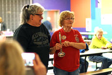 """<div class=""""source"""">KACIE GOODE/The Kentucky Standard</div><div class=""""image-desc"""">Lou Smith, right, speaks after winning the """"traveling ladle"""" Monday night during Relay for Life's annual Souper Kickoff fundraiser. </div><div class=""""buy-pic""""><a href=""""/photo_select/82517"""">Buy this photo</a></div>"""