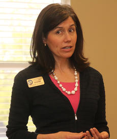 """<div class=""""source"""">RANDY PATRICK/The Kentucky Standard</div><div class=""""image-desc"""">Stephanie Horne, a Democratic candidate for lieutenant governor, speaks to the Democratic Woman's Club of Nelson County Monday night at the Public Library.</div><div class=""""buy-pic""""><a href=""""/photo_select/102358"""">Buy this photo</a></div>"""