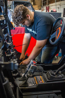 "<div class=""source"">KACIE GOODE/The Kentucky Standard</div><div class=""image-desc"">Jacob Head is working with Joe Hill's equipment center this summer.</div><div class=""buy-pic""><a href=""/photo_select/104103"">Buy this photo</a></div>"