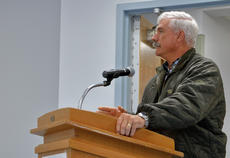 """<div class=""""source"""">KACIE GOODE/The Kentucky Standard</div><div class=""""image-desc"""">Adam Wheatley talks about finding a good leader for the district during the guest comments portion of Tuesday's meeting of the Nelson County Board of Education.</div><div class=""""buy-pic""""><a href=""""/photo_select/93864"""">Buy this photo</a></div>"""