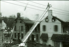 """<div class=""""source"""">FILE PHOTO</div><div class=""""image-desc"""">Firefighters work to extenguish the smoldering remains of The Talbott Tavern the morning of March 7, 1998. The Bardstown landmark is holding a celebration to mark the 20 years since the fire on Wednesday night.</div><div class=""""buy-pic""""></div>"""