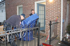 """<div class=""""source"""">RANDY PATRICK/The Kentucky Standard</div><div class=""""image-desc"""">Two Bardstown firefighters temporarily repair a hole in the side of an apartment building at Broadway and Fifth after it was struck by a pickup whose driver than left the scene Tuesday.</div><div class=""""buy-pic""""><a href=""""/photo_select/91790"""">Buy this photo</a></div>"""