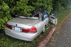 "<div class=""source"">RANDY PATRICK/The Kentucky Standard</div><div class=""image-desc"">The driver of this car was taken to Flaget Memorial Hospital late Friday morning for a head injury after a storm blew down a tree across her car while she was driving on Pottershop Loop.</div><div class=""buy-pic""></div>"