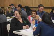"""<div class=""""source"""">KACIE GOODE/The Kentucky Standard</div><div class=""""image-desc"""">Guests laugh as answers are shared during a trivia night fundraiser Friday at American Legion Post 121. The event is helping to fund a potential movie about Fire Base Tomahawk.</div><div class=""""buy-pic""""><a href=""""/photo_select/83101"""">Buy this photo</a></div>"""