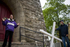"<div class=""source"">KACIE GOODE/The Kentucky Standard </div><div class=""image-desc"">Friday's Walk with the Cross in Bardstown.</div><div class=""buy-pic""><a href=""/photo_select/102555"">Buy this photo</a></div>"