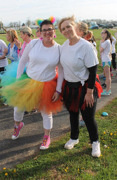 """<div class=""""source"""">RANDY PATRICK/The Kentucky Standard</div><div class=""""image-desc"""">Reagan Carter liked bright colors, so these ladies wore their fun running clothes. Nancy Olsewski and Maria Williamson took part in the Color Run.</div><div class=""""buy-pic""""><a href=""""/photo_select/94537"""">Buy this photo</a></div>"""