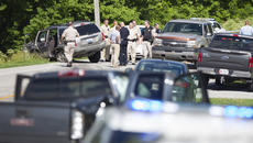 "<div class=""source"">FORREST BERKSHIRE/The Kentucky Standard</div><div class=""image-desc"">Nelson and Washington county deputy sheriffs surround a gray Jeep Cherokee driven by a suspect in an armed robbery in Bardstown Tuesday afternoon. Bourbon City Pawn off of Bloomfield Road was robbed at gunpoint and the suspect wrecked on U.S. 150, Springfield Road, about two miles over the Washington County line after he struck at least two other vehicles. The suspect fled the scene of the wreck and police caught up to him a short time later.</div><div class=""buy-pic""><a href=""/photo_select/95746"">Buy this photo</a></div>"