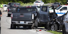 "<div class=""source"">FORREST BERKSHIRE/The Kentucky Standard</div><div class=""image-desc"">At least two other vehicles were damaged in a wreck on Springfield Road involving a suspect in an armed robbery.</div><div class=""buy-pic""><a href=""/photo_select/95747"">Buy this photo</a></div>"