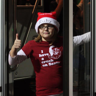 Life Care Center of Bardstown drove a bus to the parade.