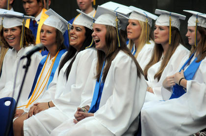 The Bethlehem High School class of 2011 graduates at the J. Dan Talbot Ampitheatre Sunday.