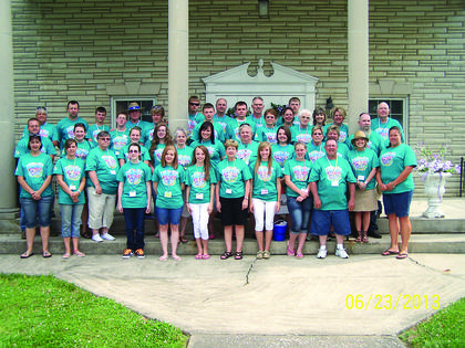 First Baptist Church of New Haven Vacation Bible School worked to raise money for school supplies. They were able to raise $933. The money raised was donated to The Village Family Resource & Youth Services Center at The New Haven School.