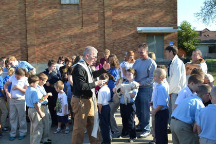 St. Catherine Academy held its annual Blessing of the Animals Oct. 1. Students were invited to bring their pets to be  blessed by the Rev. Troy Overton in honor of St. Francis of Assisi, whose feast day was Oct. 4.