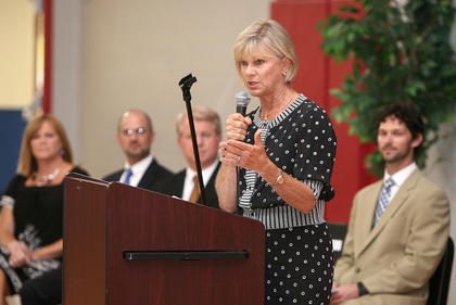 First Lady Jane Beshear spoke at the Horizons graduation.