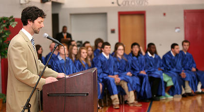 Horizons Principal Scottie Collier spoke at the 2011 Horizons Academy graduation.