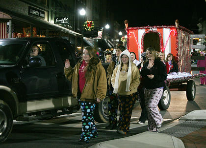 The HOSA club at Nelson County High School walked in the parade.