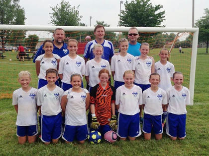 The Nelson Elite Smashers, coached by Martin Bodkin and assisted by Jamie Blanford and David Sparks, finished first in the U12 Girls Premier Division of the Kentucky Select Soccer League. Also, the Smashers were one of the four semifinalists in the Eurosport Challenge Cup, which is the Kentucky State Championship for the U11 and U12 age groups. The Smashers advanced to the semifinals by going undefeated in their pool play with big wins over Spencer County, Kentucky Fire Junior Premier and Javanon. In the semifinals the Smashers lost to the eventual state champions, Commonwealth Soccer Club. Team members include (front)  Abigail Proctor, Carly Beam, Grace Thurman, Grace Borgerding, Miranda Blanford, Molly Bodkin, Sarah Been, (middle) Jordan Cross, Destiny Tharpe, Sammi Howard, Madison Wood, Madie Sparks, Brentyn Dodd,  (back) and coaches David Sparks, Jamie Blanford and Martin Bodkin.