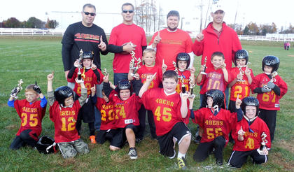 The 49ers scored an 18-12 win over the Patriots to win the Flag Division championship of the Bardstown-Nelson County Youth Football League.