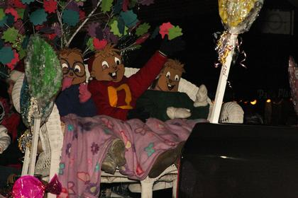Alvin and the Chipmunks were the feature on the Wee Care Day Care float.
