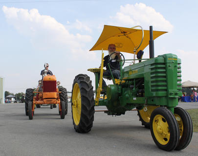 A variety of antique tractors were on display at the first-ever Bourbon City BBQ Festival Sept. 2-3, 2011.