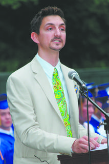 Jonathon T. Raley, coordinator of campus ministries for Bethlehem High School, was the keynote speaker at the school's 101st commencement Sunday night at the J. Dan Talbott Amphitheatre. Seventy-two students graduated.