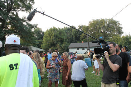 Members of a film crew for a TLC food show created some excitement in the crowd when they showed up at the Buttermilk Days Wild Game and Wine night Thursday.
