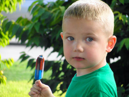 At a family gathering last summer, Keaton Smith was distracted from his popsicle, giving Curtsinger the perfect opportunity to capture this image.