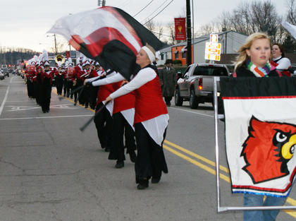 The Nelson County High School flag team participated in the parade.