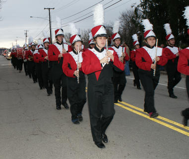 The Nelson County High School band marched in the parade.