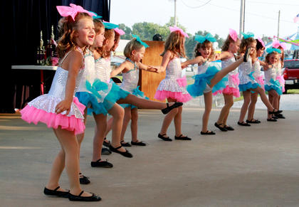 """Students from Dance Pros studio perform before the Miss Pre-Teen Nelson County Fair contest. The tiny dancers performed to the song, """"Single Ladies."""""""