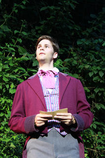 Stephen Foster (Max Pallman) is upset by his family's insistence that no one can make a career out of writing music.