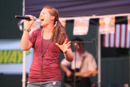 Krista Lynn Brady, New Haven, performs. She placed second in the competition.