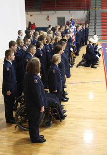The Nelson County High School Junior ROTC, more than 100 strong, pose for a photo after the annual Veterans Day ceremony at Nelson County High School Friday.