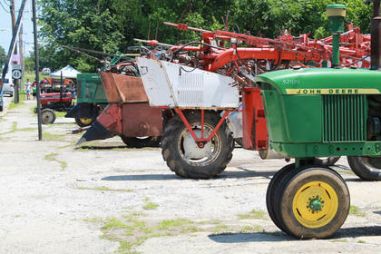 Tractors were on display along Fairfield's main street during the 2011 Fairfield Days and Homecoming June 25-26.