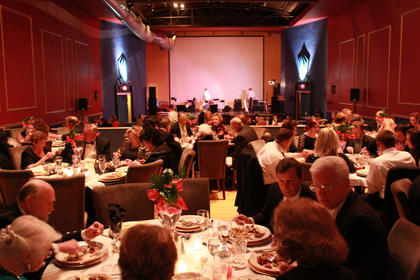 Guests at the 2011 Beautiful Dreamer Ball enjoyed a dinner catered by Kreso's Restaurant, followed by a trivia competition.