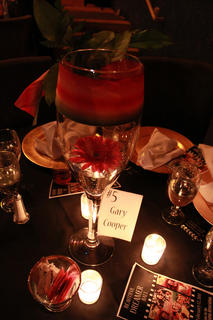 """Each table at the 2011 Beautiful Dreamer Ball was named after a different 1939 movie star or film in honor of the ball's theme, """"1939: Hollywood's Greatest Year."""""""
