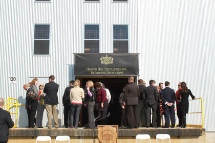 Guests wait to see inside Rickhouse J.