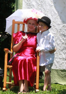 Visitors to the Wickland 19th-Century Barbecue July 9 were encouraged to dress in period costume and pose for pictures.