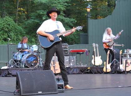 Hotel California, an Eagles cover band, drew a crowd of 830 to the J. Dan Talbott Amphitheatre July 25.