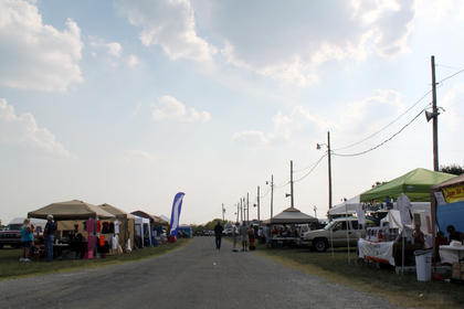 Arts and crafts vendors sold their wares at the first-ever Bourbon City BBQ Festival Sept. 2-3.