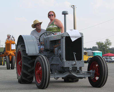 A number of antique tractors were on display at the first-ever Bourbon City BBQ Festival Sept. 2-3, 2011.