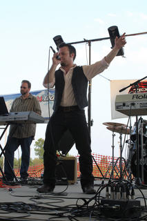 """Eric Burgett, Owensboro, sang original song """"Nothin' Better"""" and """"Red Dirt Road"""" at the Texaco Country Showdown state finals at the Nelson County Fairgrounds Sept. 3, 2011."""
