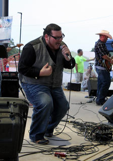 """Clinton Spalding, Elizabethtown, sang """"I'll Be"""" and """"Goodbye Time"""" at the Texaco Country Showdown state finals at the Nelson County Fairgrounds Sept. 3, 2011."""