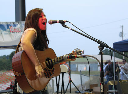 """Heidi Lynn Douglas, Corbin, sang two original songs — """"I Wish I Knew"""" and """"She Changes You"""" — at the Texaco Country Showdown state finals at the Nelson County Fairgrounds Sept. 3, 2011."""