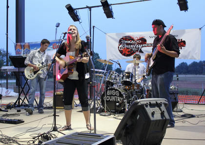 """No Deceit, a band from Campbellsville, performed two original songs — """"I Don't Know How You Do It"""" and """"More Each Day"""" — at the Texaco Country Showdown state finals at the Nelson County Fairgrounds Sept. 3, 2011."""